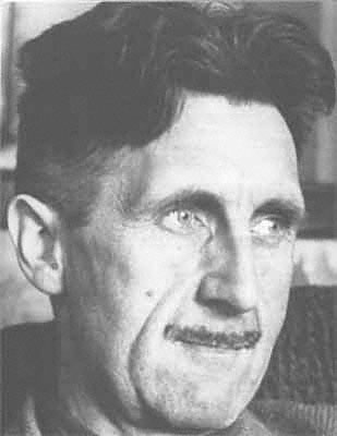 [George Orwell photo-portrait]
