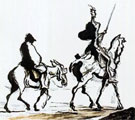 ['Don Quixote' - An art by Pablo Picasso]