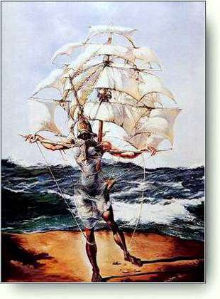 ['The Ship' - The art by Salvador Dali]