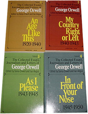 george orwell the collected essays journalism and letters of   the collected essays journalism and letters of george orwell cover page