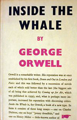 george inside the whale and other essays publisher   inside the whale and other essays cover page