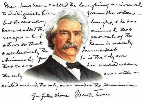 ['Mark Twain' - The work of Dave Thomson]